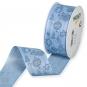 Dekorationsband Baumwolloptik, Farbe: Hellblau/Dunkelblau