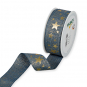 """Druckband """"Sterne"""", Farbe: Blau/Gold"""