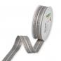 Lurex-Streifenband, Farbe: Silber/Braun/Weiß