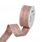 Lurex-Streifenband, Farbe: Kupfer/Weiß