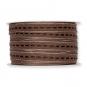 Strukturband mit Steppstreifen, Farbe: braun/silber