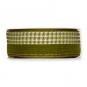 """Streifenband """"Piqué"""", Farbe: olivgrün/weiß/gold"""