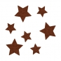 Filz-Sortiment Sterne, Farbe: Braun