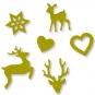 """Filz-Sortiment """"Weihnachten"""", Farbe: schilfgrün"""