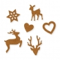 """Filz-Sortiment """"Weihnachten"""", Farbe: hellbraun"""