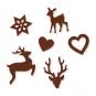 """Filz-Sortiment """"Weihnachten"""", Farbe: braun"""