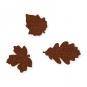 Filz-Sortiment Herbstblätter, Farbe: braun