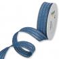 Dekorationsband, Farbe: Blau/Gold