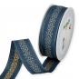 """Dekorationsband """"Diamanten"""", Farbe: Blau/Gold"""