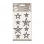 """Filz-Sticker """"Sterne"""" selbstklebend, Farbe: grau"""