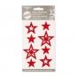 """Filz-Sticker """"Sterne"""" selbstklebend, Farbe: rot"""