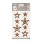 "Filz-Sticker ""Sterne"" selbstklebend, Farbe: hellbraun"