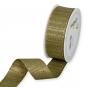 Lurex-Streifenband, Farbe: Olivgrün/Gold