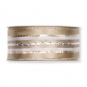Satin-Streifenband, Farbe: beige/gold