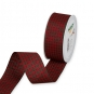 Vichy-Karoband, Farbe: Rot/Dunkelgrün