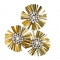 """Strass-Ornament """"Blume"""", Farbe: Gold"""