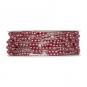 Perlen-Gimpe mit formbarer Drahtseele, Farbe: rosa/silber