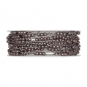 Perlen-Gimpe mit formbarer Drahtseele, Farbe: grau/silber