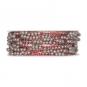 Perlen-Gimpe mit formbarer Drahtseele, Farbe: rot/grau/silber