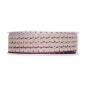 Litze Leinen-Optik, Farbe: Violet/Leinen/Lavendel