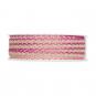 Litze Leinen-Optik, Farbe: Pink/Leinen/Pastellrosa