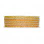 Litze Leinen-Optik, Farbe: Gelb/Leinen/Orange