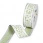 """Druckband """"Blüten"""", Farbe: Moosgrün/Weiß"""