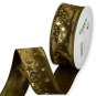 "Druckband ""Sterne"", Farbe: Olivgrün/Gold"