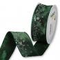 """Druckband """"Sterne"""", Farbe: Smaragdgrün/Silber"""