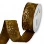 """Druckband """"Sterne"""", Farbe: Bernstein Braun/Gold"""