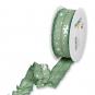 """Druckband """"Sterne"""", Farbe: Salbeigrün/Weiß"""