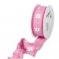 """Druckband """"Sterne"""", Farbe: Pink/Weiß"""