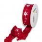 """Druckband """"Sterne"""", Farbe: Rot/Weiß"""