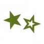 Filz-Sterne Sortiment, Farbe: grün