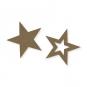 Filz-Sterne Sortiment, Farbe: hellbraun