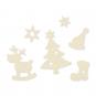 """Filz-Sortiment """"Weihnachten"""", Farbe: creme"""