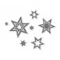 "Filz-Sortiment ""Sterne"", Farbe: hellgrau"