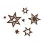 """Filz-Sortiment """"Sterne"""", Farbe: dunkelbraun"""