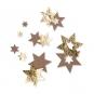 Filz-Sterne mit Foliendruck, Farbe: hellbraun/gold