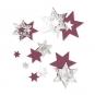 Filz-Sterne mit Foliendruck, Farbe: violet/silber
