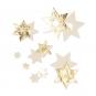 Filz-Sterne mit Foliendruck, Farbe: creme/gold