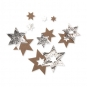 Filz-Sterne mit Foliendruck, Farbe: braun/silber