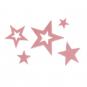 Sortiment Filzsterne, Farbe: Altrosa