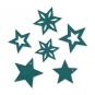 Filzsortiment Sterne, Farbe: petrol