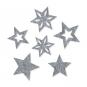 Filzsortiment Sterne, Farbe: hellgrau