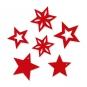 Filzsortiment Sterne, Farbe: rot