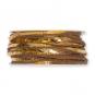 Filzband mit Metallic-Foliendruck, Farbe: hellbraun/gold