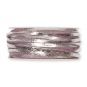 Filzband mit Metallic-Foliendruck, Farbe: altrosa/silber