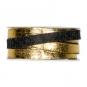 Filzband mit Metallic-Foliendruck, Farbe: anthrazit/gold