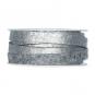 Filzband mit Metallic-Foliendruck, Farbe: hellgrau/silber